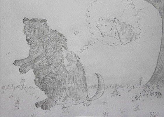 Zeichnung von einem halluzinierenden Avon