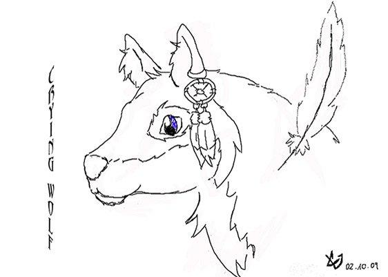 Zeichnung des Charakters Crying Wolf